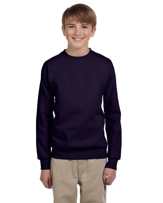 Hanes Youth ComfortBlend® 50/50 Fleece Crew NAVY