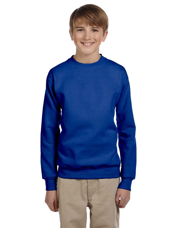 Hanes Youth ComfortBlend® 50/50 Fleece Crew DEEP ROYAL