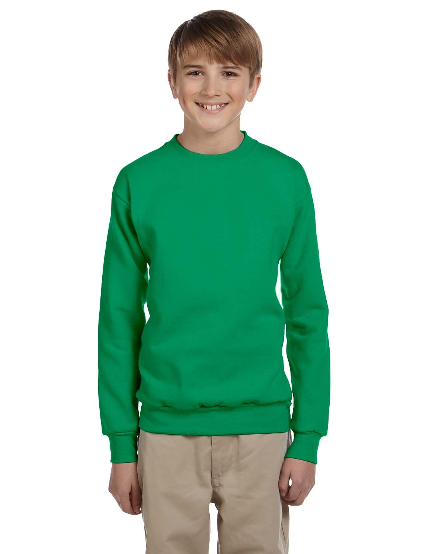 Hanes Youth ComfortBlend® 50/50 Fleece Crew KELLY GREEN