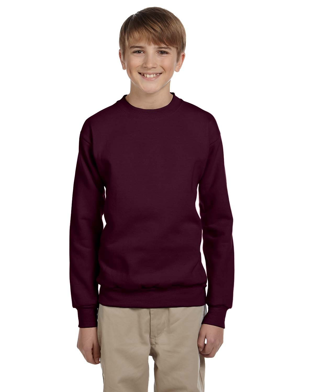 Hanes Youth ComfortBlend® 50/50 Fleece Crew MAROON