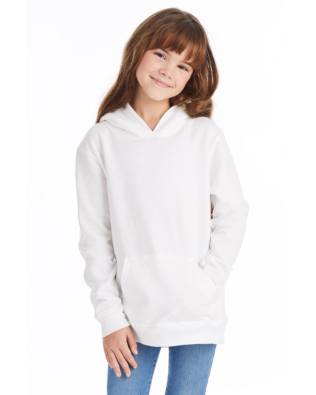 Hanes Youth EcoSmart® 50/50 Pullover Hooded Sweatshirt WHITE