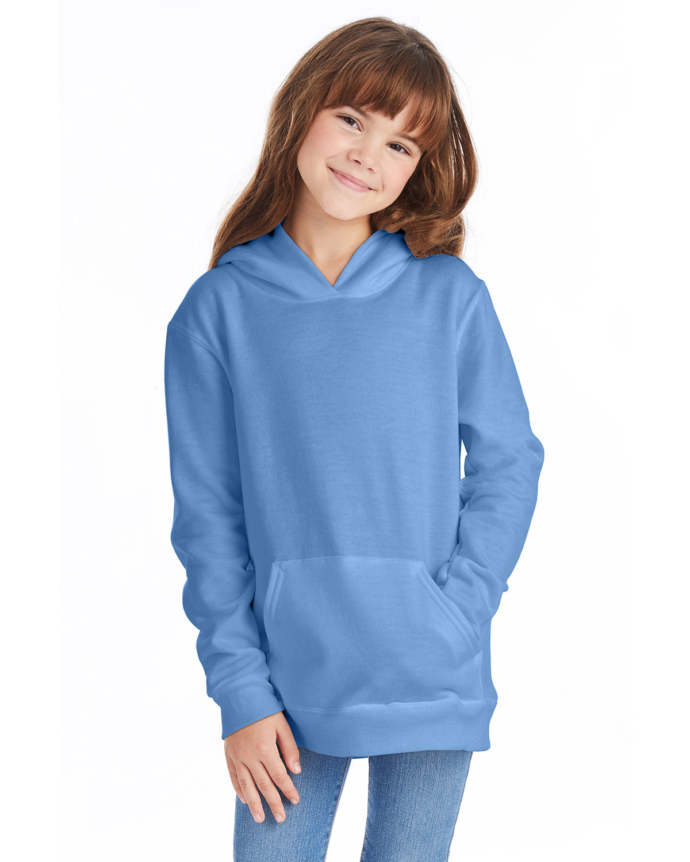 Hanes Youth EcoSmart® 50/50 Pullover Hooded Sweatshirt CAROLINA BLUE