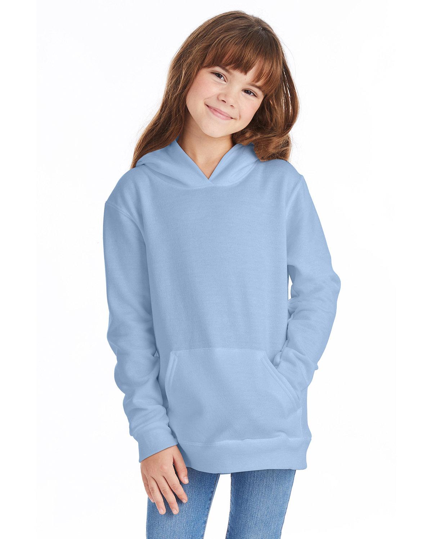 Hanes Youth EcoSmart® 50/50 Pullover Hooded Sweatshirt LIGHT BLUE