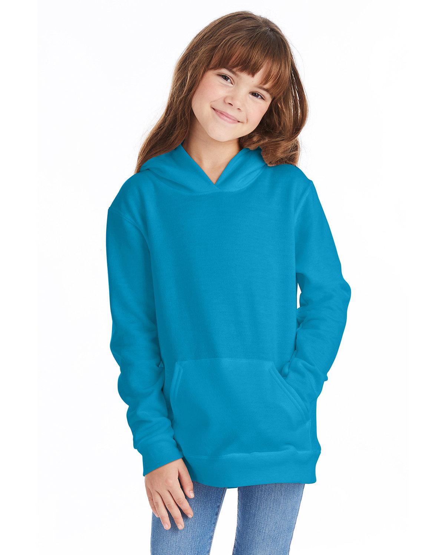 Hanes Youth EcoSmart® 50/50 Pullover Hooded Sweatshirt TEAL