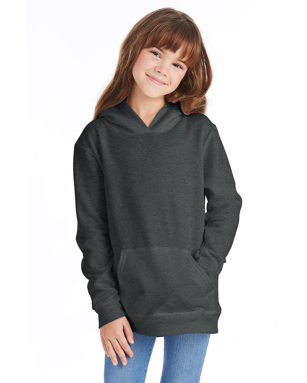 Hanes Youth EcoSmart® 50/50 Pullover Hooded Sweatshirt CHARCOAL HEATHER