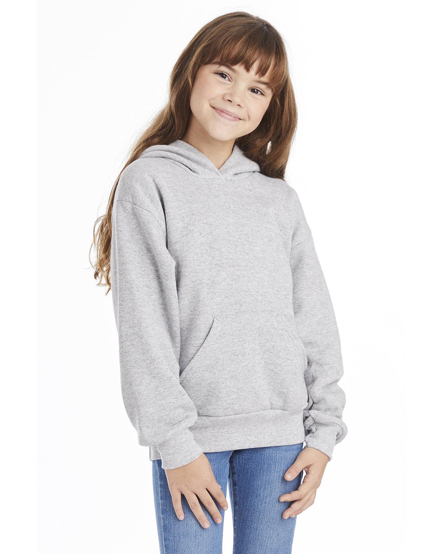 Hanes Youth EcoSmart® 50/50 Pullover Hooded Sweatshirt LIGHT STEEL
