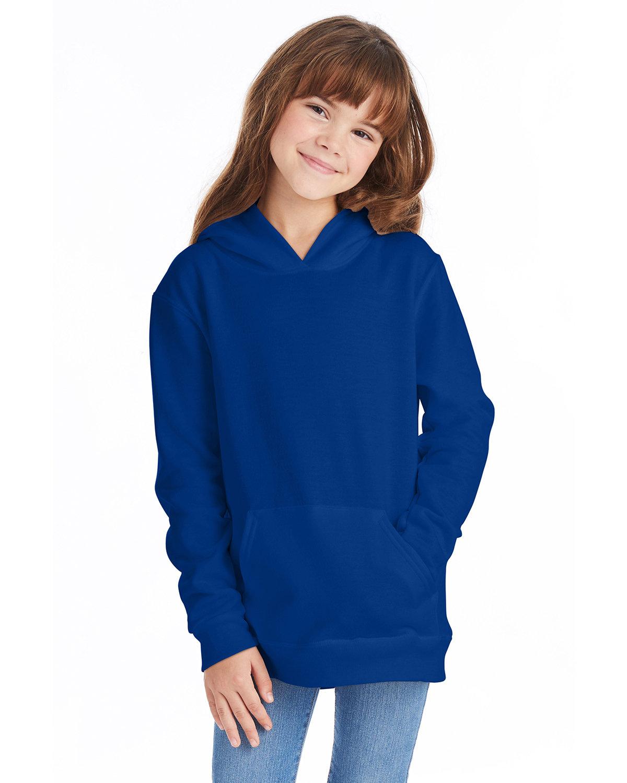 Hanes Youth EcoSmart® 50/50 Pullover Hooded Sweatshirt DEEP ROYAL