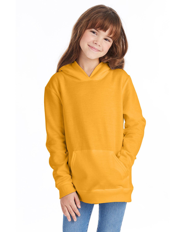 Hanes Youth EcoSmart® 50/50 Pullover Hooded Sweatshirt GOLD