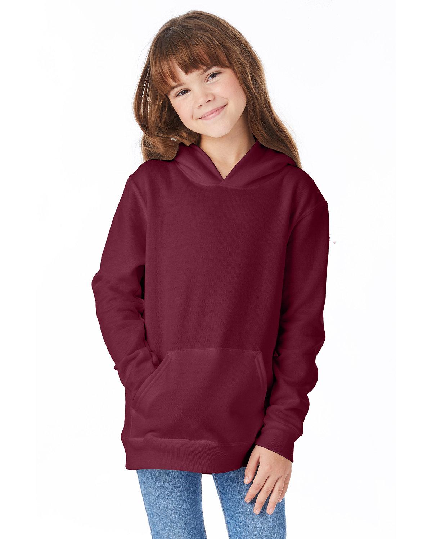 Hanes Youth EcoSmart® 50/50 Pullover Hooded Sweatshirt MAROON