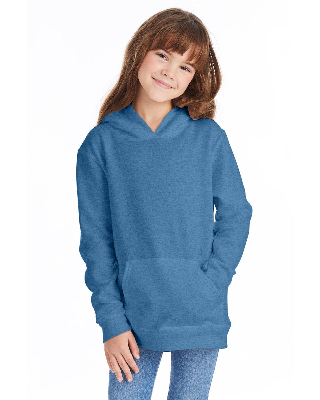 Hanes Youth EcoSmart® 50/50 Pullover Hooded Sweatshirt HEATHER BLUE