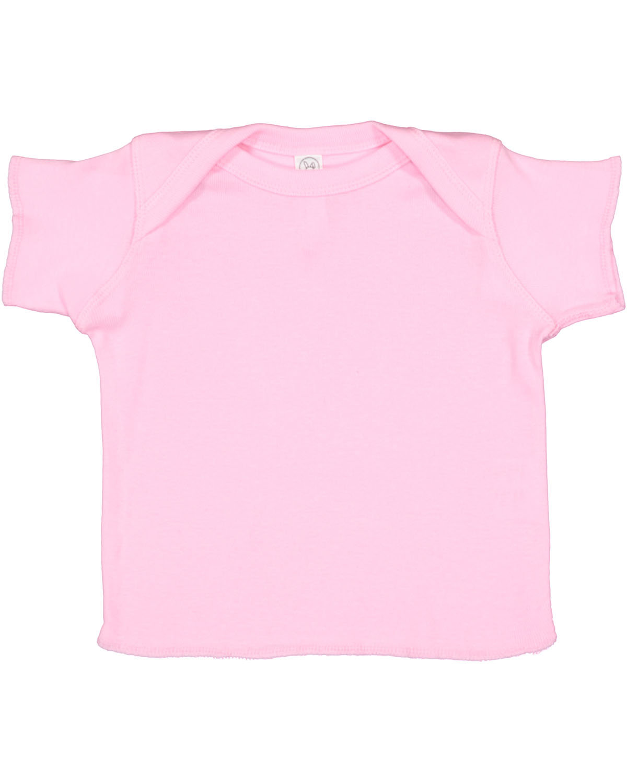 Rabbit Skins Infant Baby Rib T-Shirt PINK