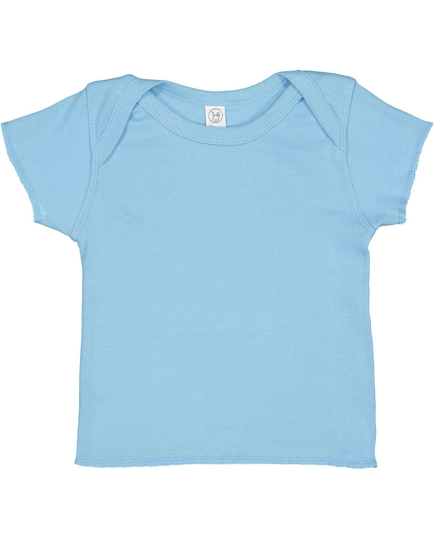 Rabbit Skins Infant Baby Rib T-Shirt LIGHT BLUE