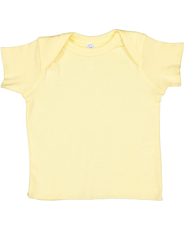 Rabbit Skins Infant Baby Rib T-Shirt BANANA