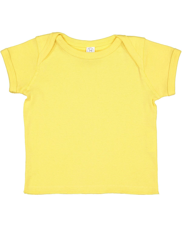 Rabbit Skins Infant Baby Rib T-Shirt BUTTER