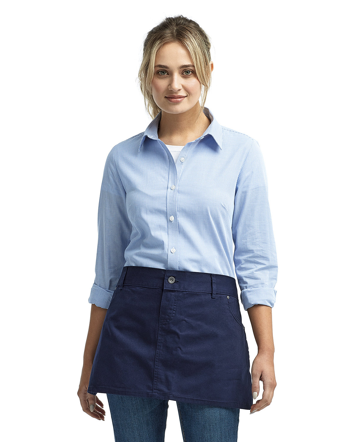 Artisan Collection by Reprime Unisex Cotton Chino Waist Apron NAVY