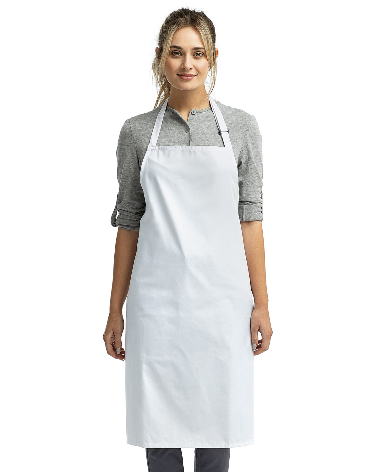 """Artisan Collection by Reprime """"Colours"""" Sustainable Bib Apron WHITE"""