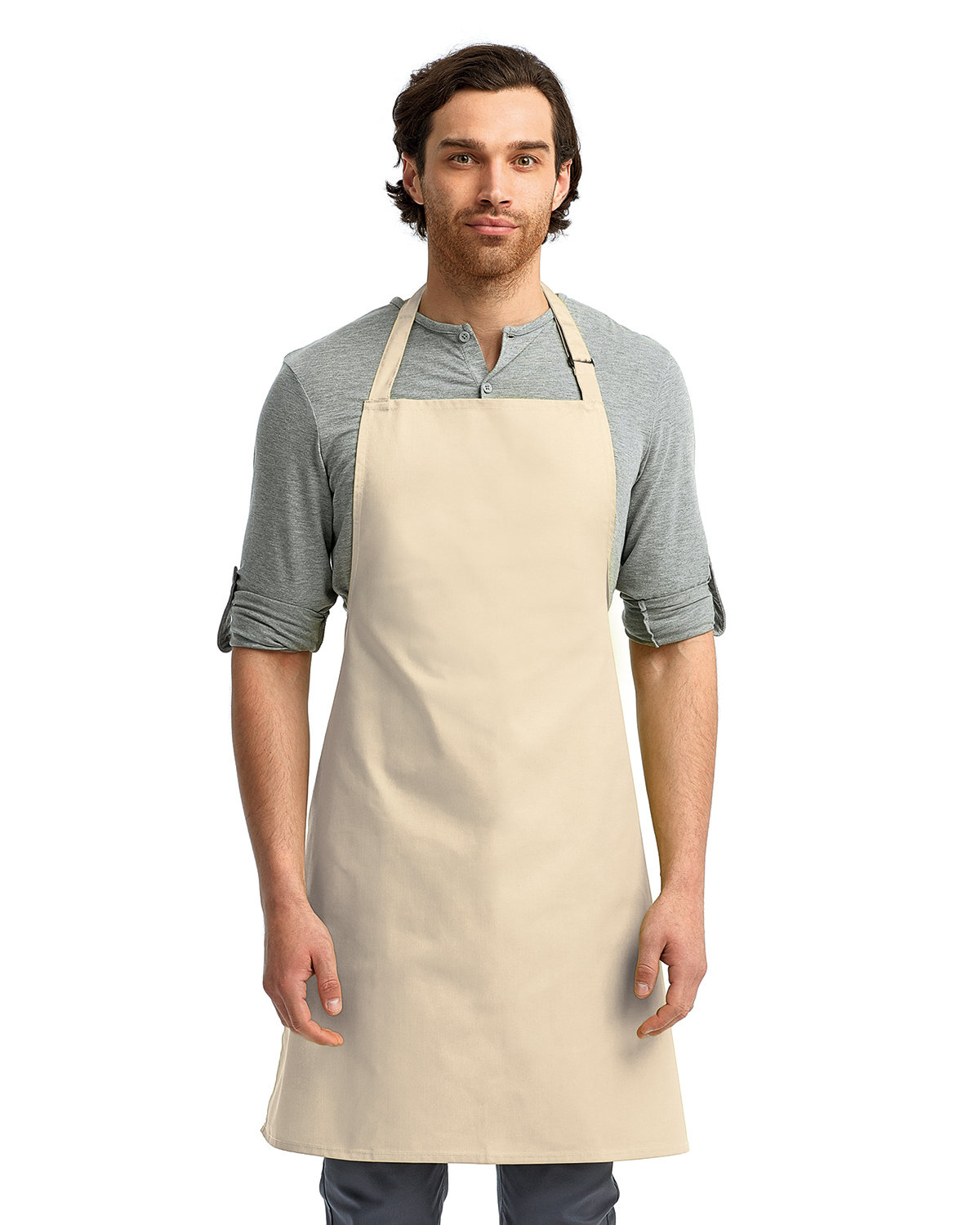 """Artisan Collection by Reprime """"Colours"""" Sustainable Bib Apron NATURAL"""