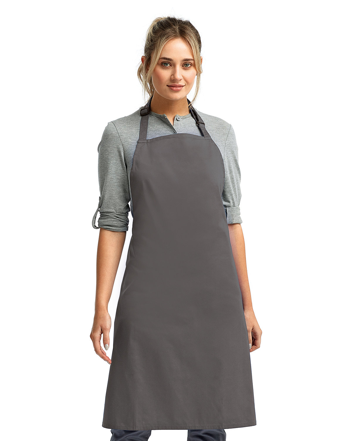 """Artisan Collection by Reprime """"Colours"""" Sustainable Bib Apron DARK GREY"""