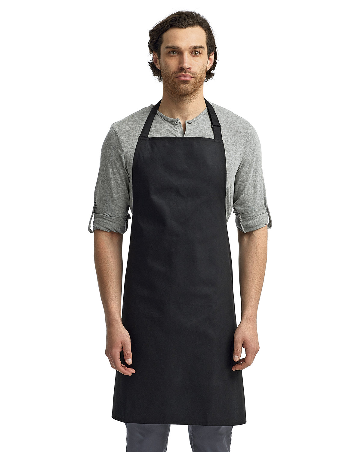 """Artisan Collection by Reprime """"Colours"""" Sustainable Bib Apron BLACK"""