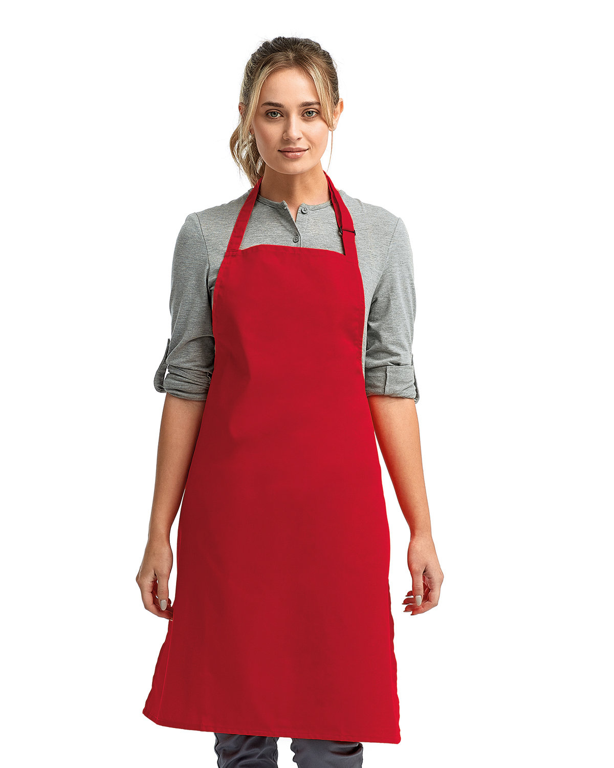 """Artisan Collection by Reprime """"Colours"""" Sustainable Bib Apron RED"""