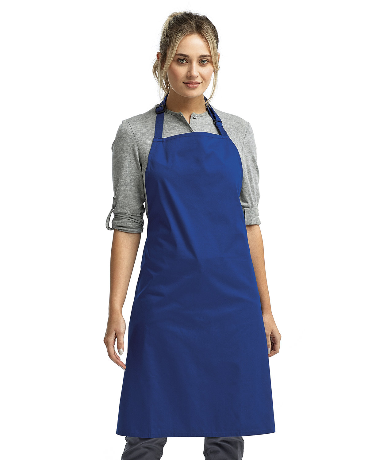 """Artisan Collection by Reprime """"Colours"""" Sustainable Bib Apron ROYAL"""