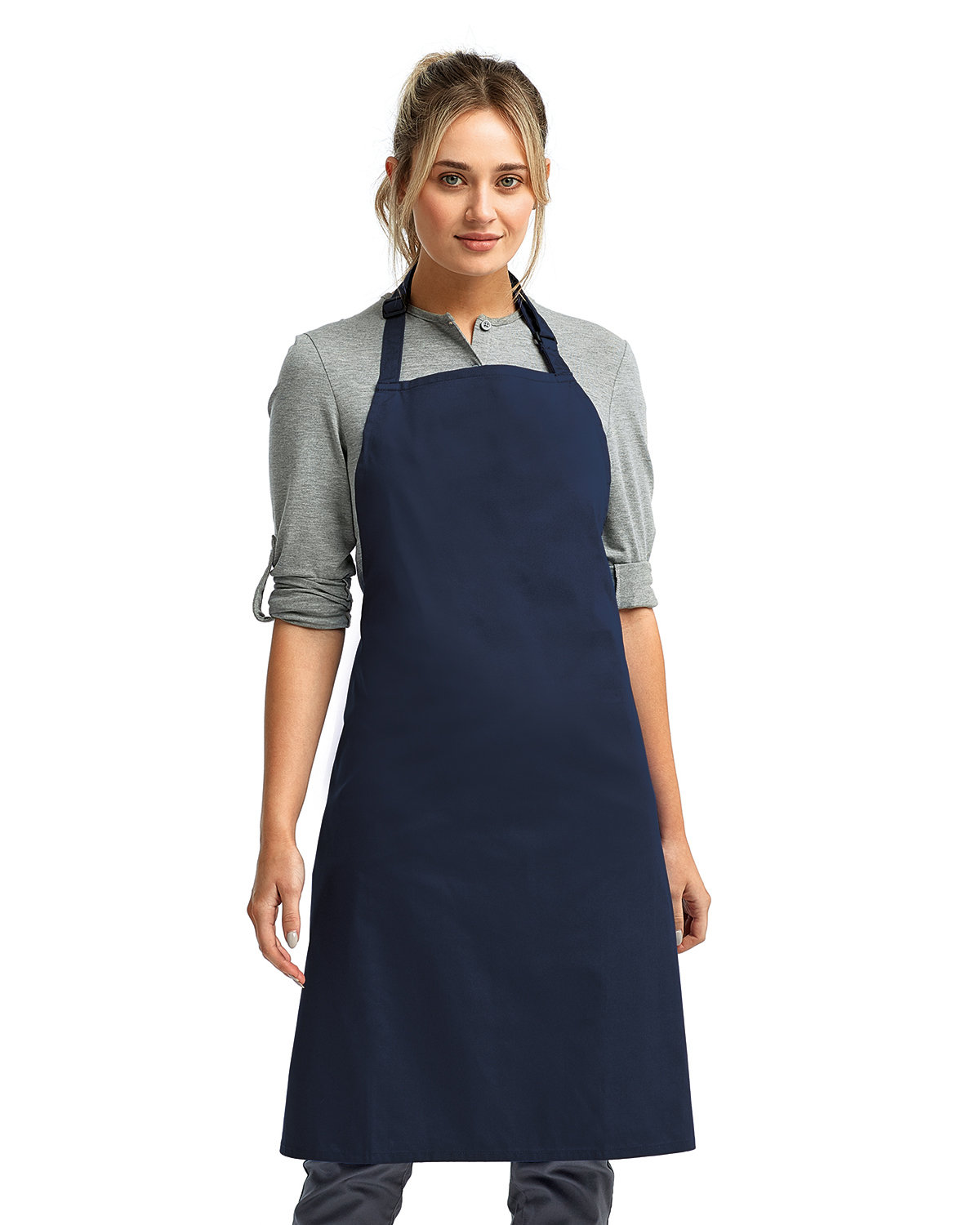 """Artisan Collection by Reprime """"Colours"""" Sustainable Bib Apron NAVY"""