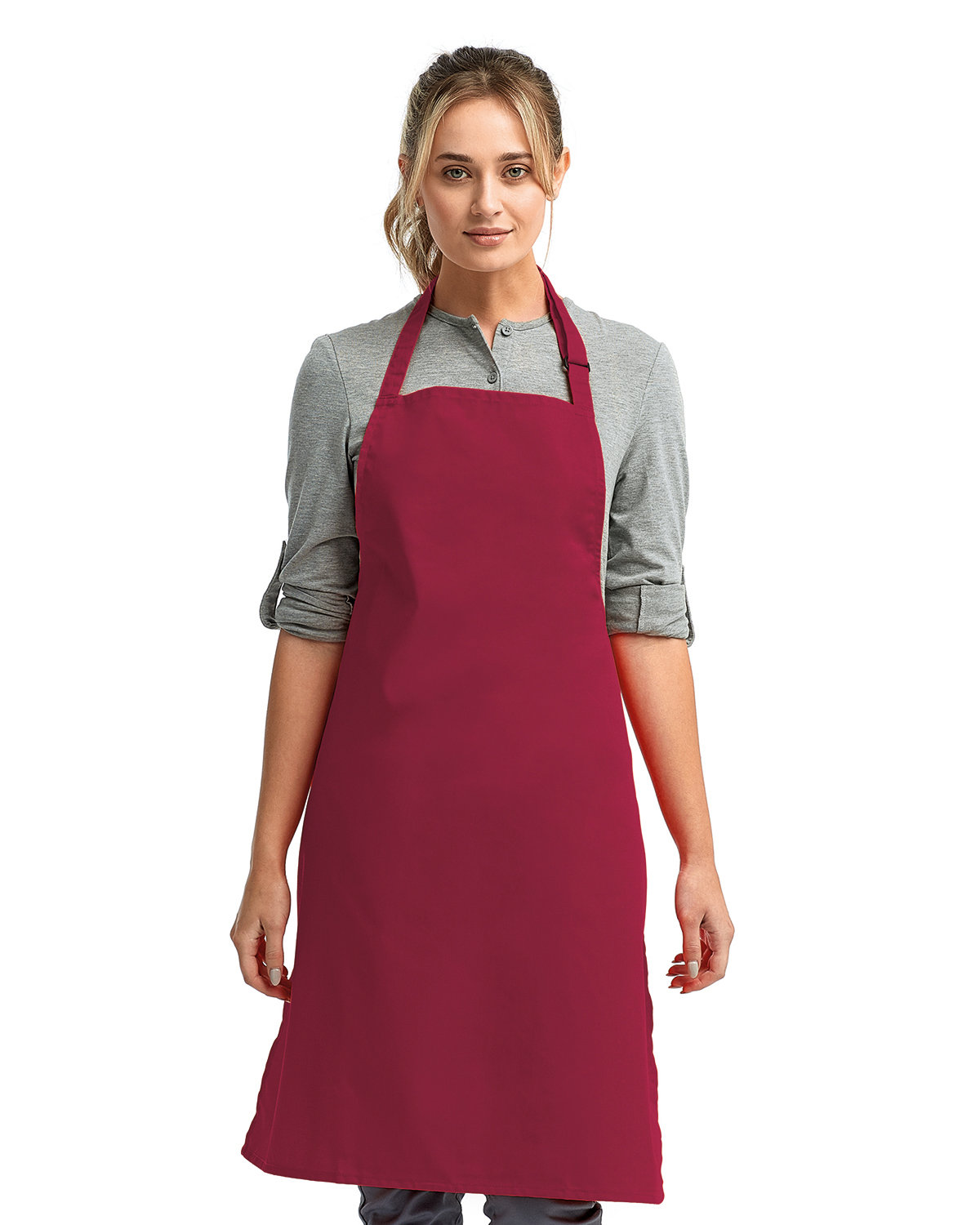 """Artisan Collection by Reprime """"Colours"""" Sustainable Bib Apron BURGUNDY"""