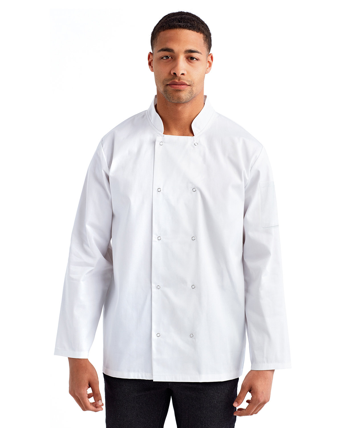 Artisan Collection by Reprime Unisex Studded Front Long-Sleeve Chef's Coat WHITE