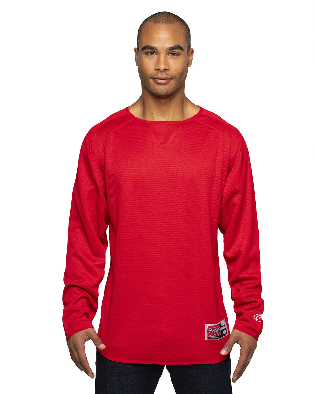 Rawlings Drop Ship Adult 8 oz., Polyester Fleece Crew RED