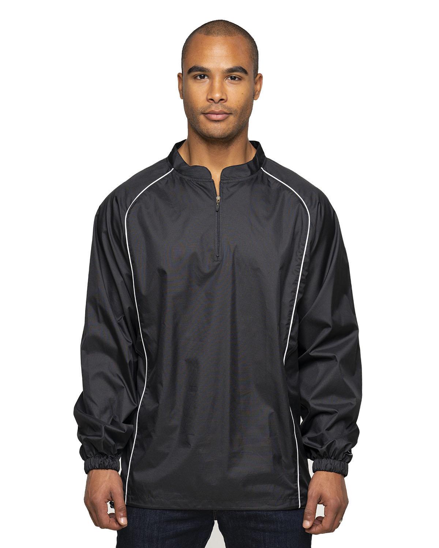 Rawlings Drop Ship Adult 1/4-Zip Poly Dobby Jacket BLACK