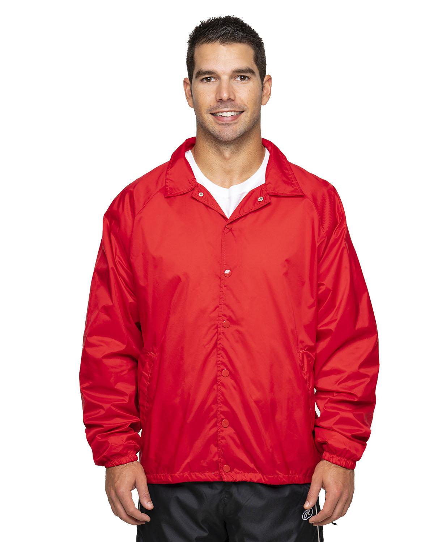 Rawlings Drop Ship Adult Nylon Taffeta Coaches Jacket RED