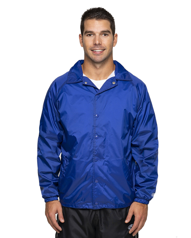 Rawlings Drop Ship Adult Nylon Taffeta Coaches Jacket ROYAL