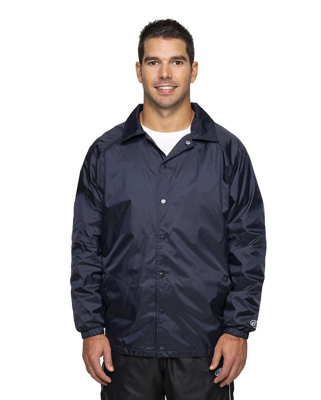 Rawlings Drop Ship Adult Nylon Taffeta Coaches Jacket NAVY