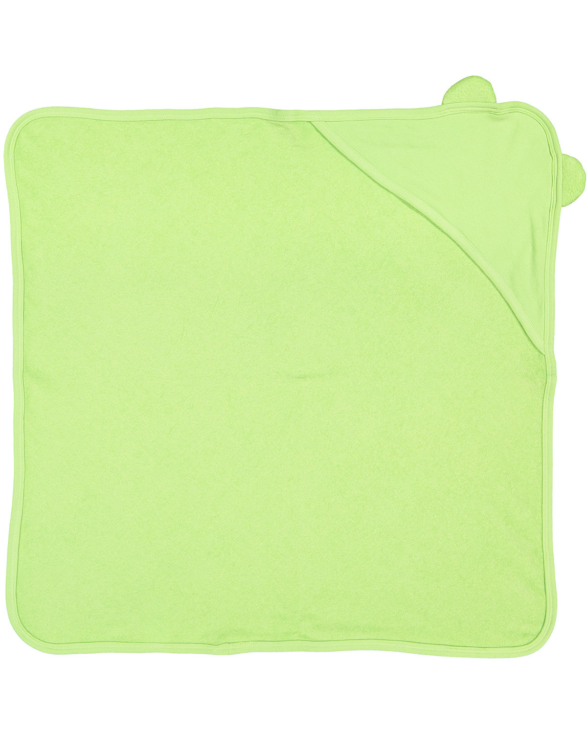 Rabbit Skins Infant Hooded Terry Cloth Towel With Ears KEY LIME