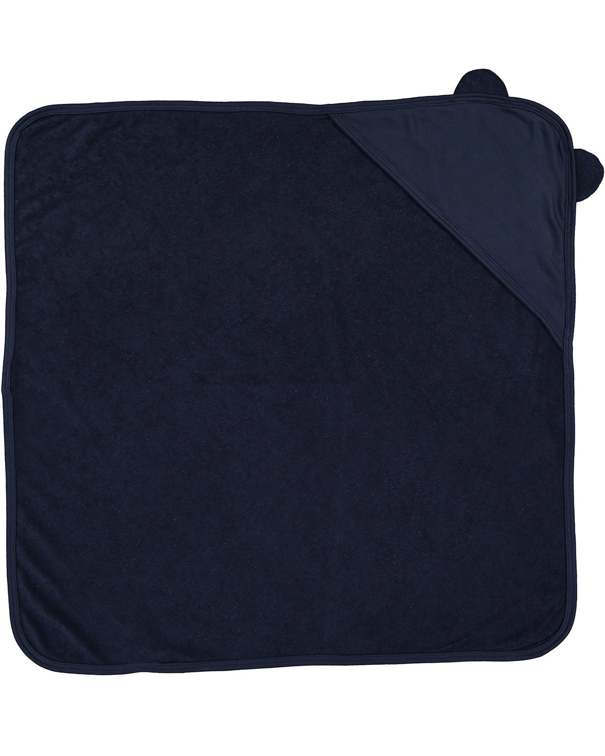 Rabbit Skins Infant Hooded Terry Cloth Towel With Ears NAVY