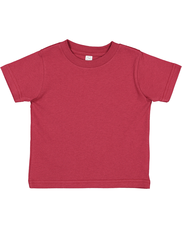 Rabbit Skins Toddler Cotton Jersey T-Shirt GARNET