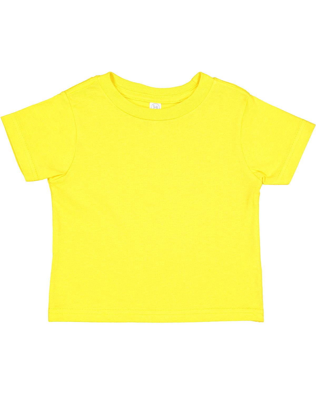 Rabbit Skins Toddler Cotton Jersey T-Shirt YELLOW