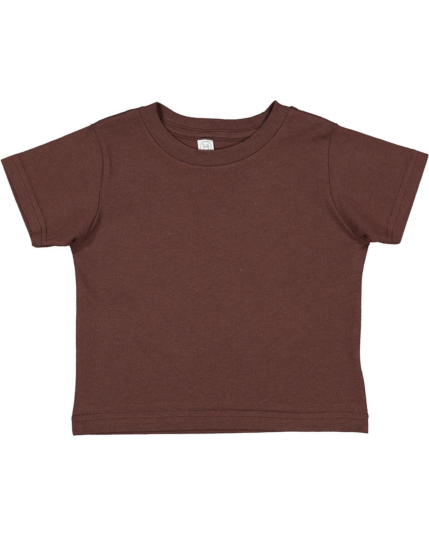 Rabbit Skins Toddler Cotton Jersey T-Shirt BROWN
