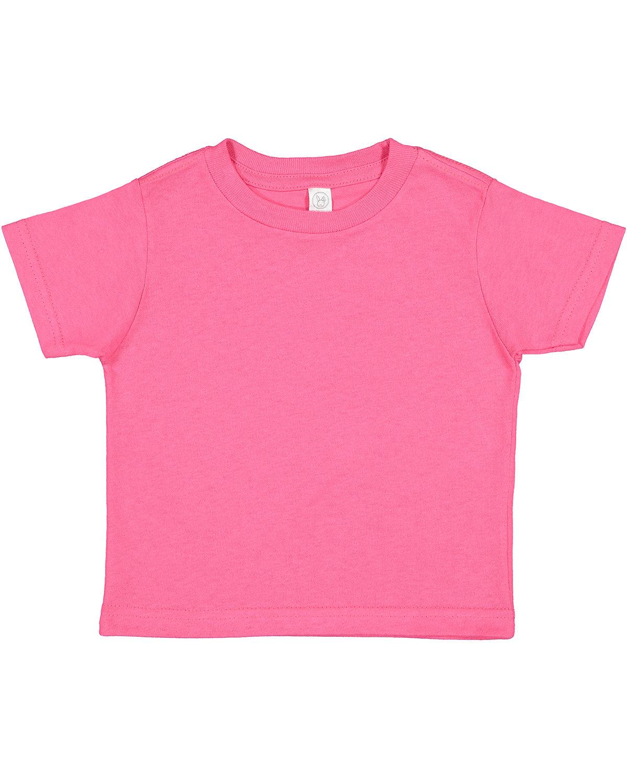 Rabbit Skins Toddler Cotton Jersey T-Shirt HOT PINK