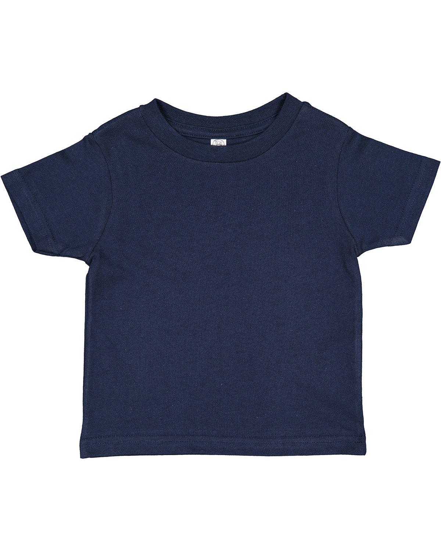 Rabbit Skins Toddler Cotton Jersey T-Shirt NAVY