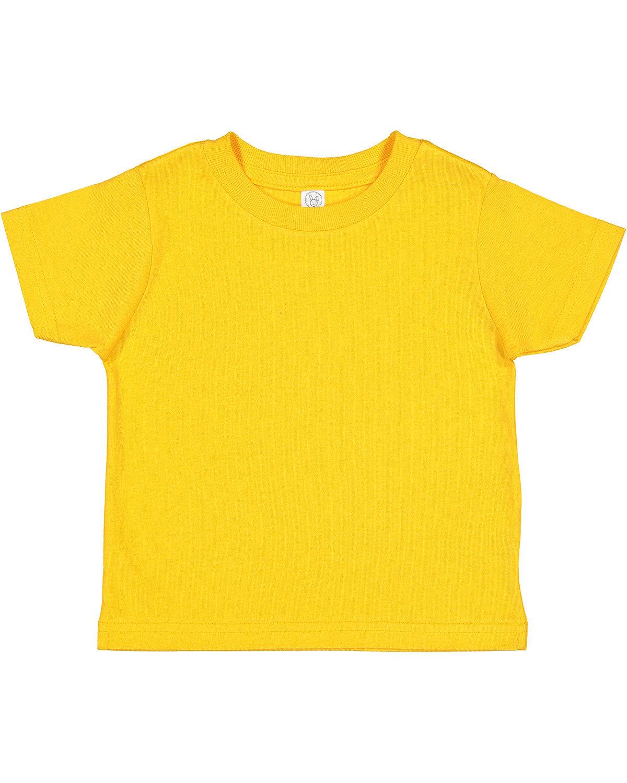 Rabbit Skins Toddler Cotton Jersey T-Shirt GOLD