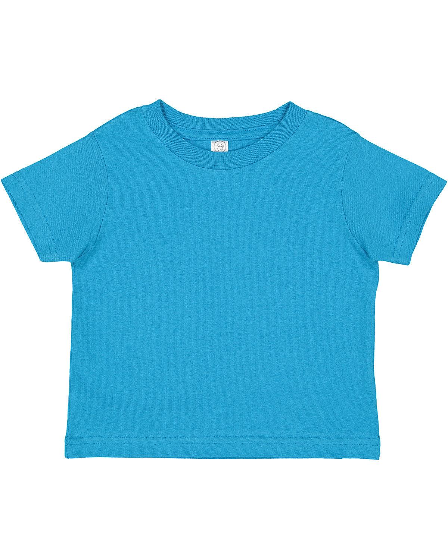 Rabbit Skins Toddler Cotton Jersey T-Shirt TURQUOISE