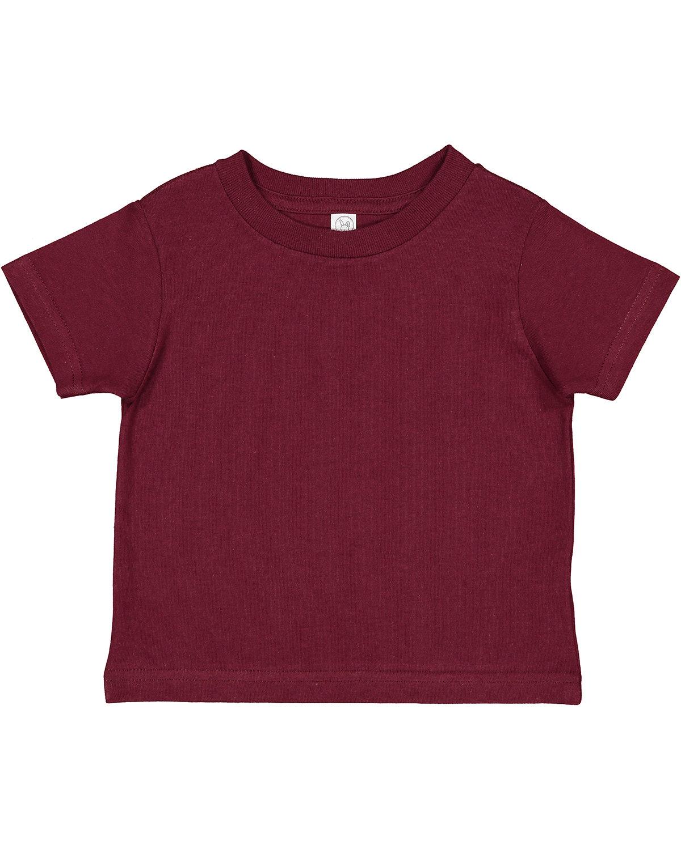 Rabbit Skins Toddler Cotton Jersey T-Shirt MAROON