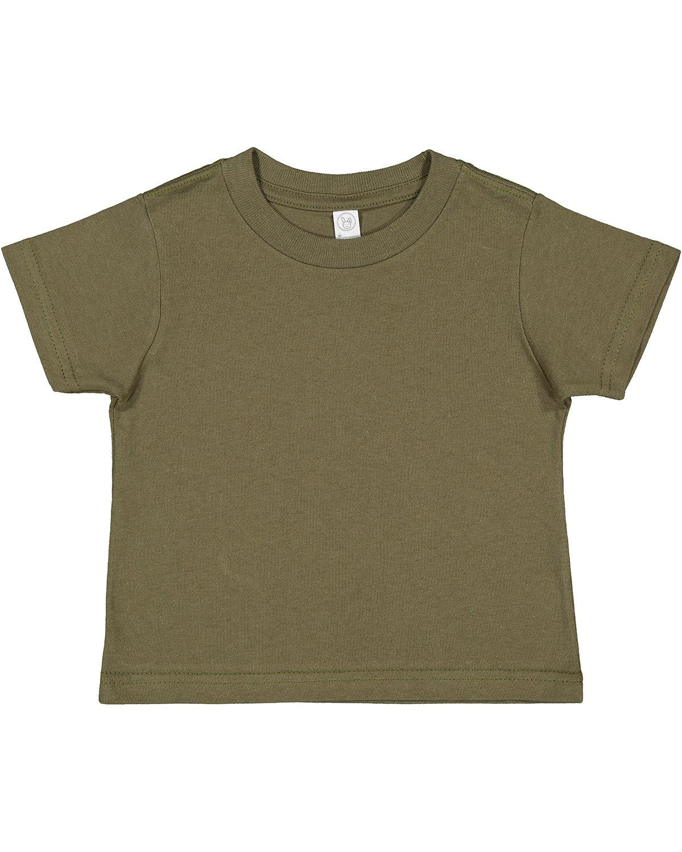 Rabbit Skins Toddler Cotton Jersey T-Shirt MILITARY GREEN