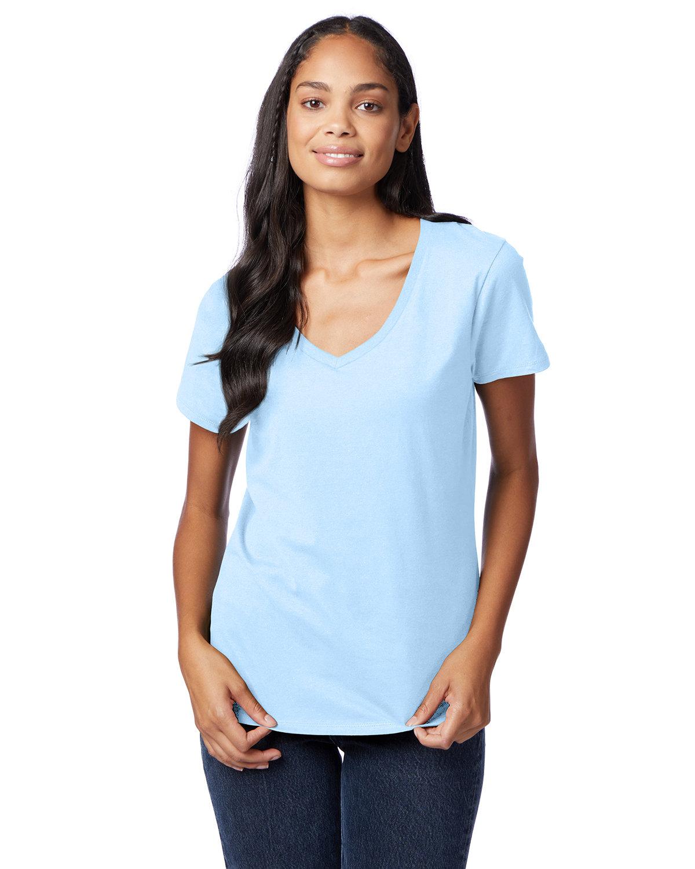 Hanes Ladies' Nano-T® V-Neck T-Shirt LIGHT BLUE