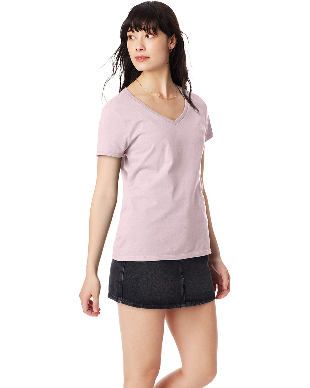 Hanes Ladies' Nano-T® V-Neck T-Shirt PALE PINK