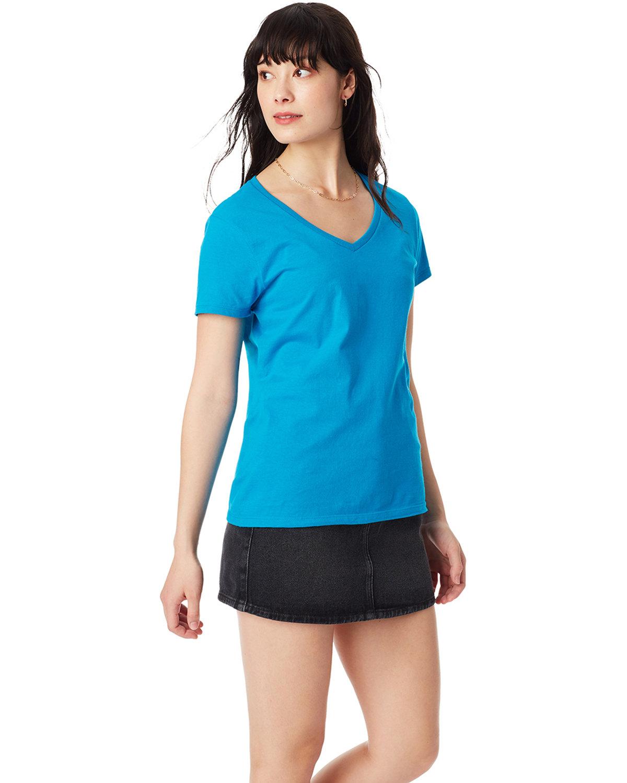 Hanes Ladies' Nano-T® V-Neck T-Shirt TEAL