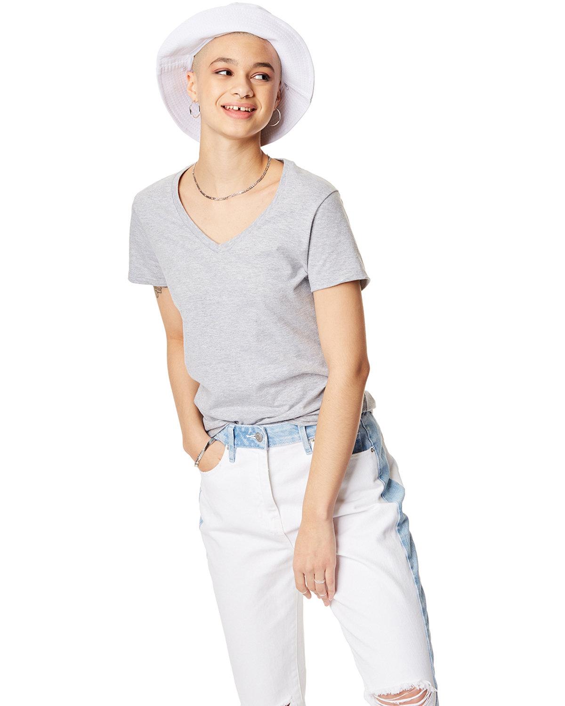 Hanes Ladies' Nano-T® V-Neck T-Shirt LIGHT STEEL