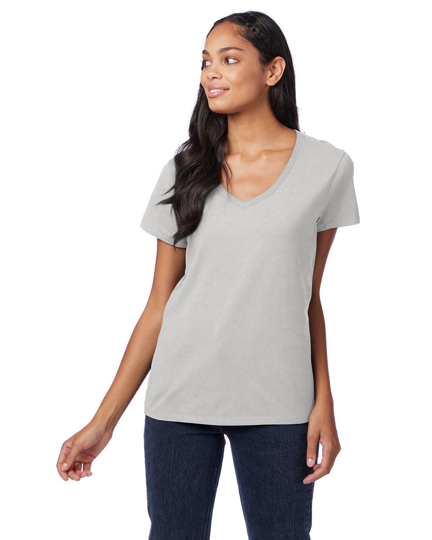 Hanes Ladies' Nano-T® V-Neck T-Shirt ASH