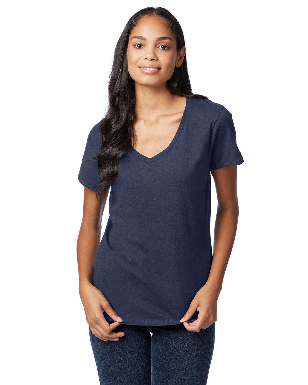 Hanes Ladies' Nano-T® V-Neck T-Shirt NAVY